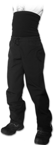 Softshell trousers for kids with high belly belt