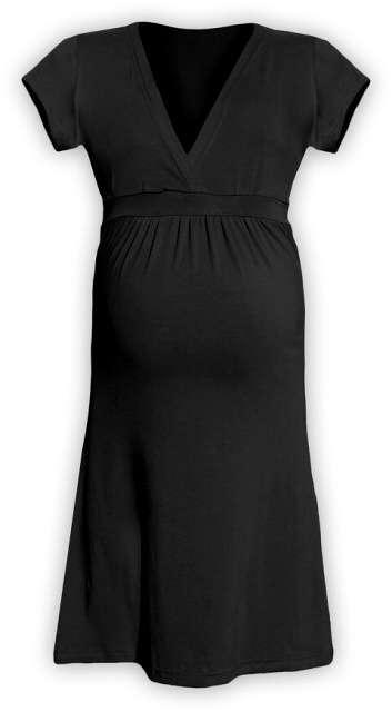 Těhotenské šaty šarlota, černá m/l