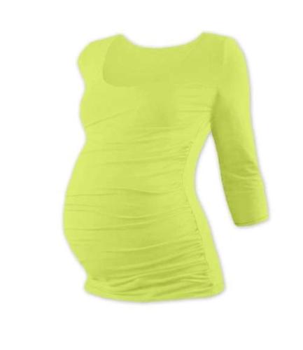 Maternity T-shirt Johanka, 3/4 sleeve, LIGHT GREEN