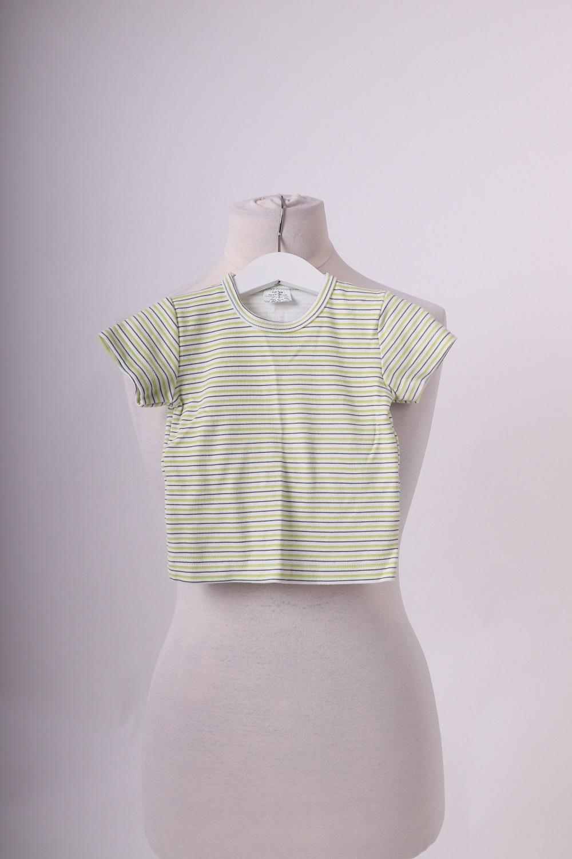 Dětské tričko pruhy, zelené, 74