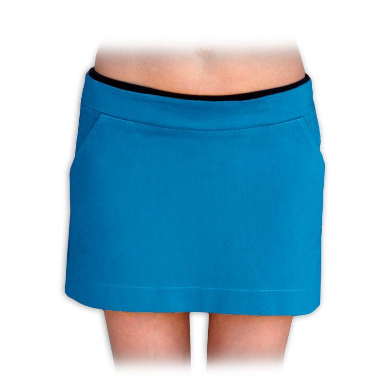 těhotenská sukně celoroční denim jeans riflovina barevná PETROLEJOVÁ