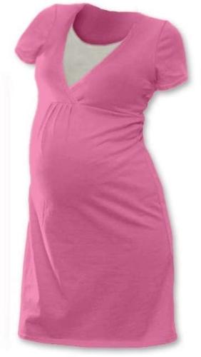 Dojčiace nočná košeľa Lucie, krátky rukáv, ružová