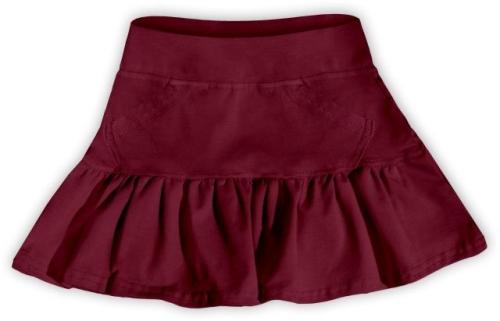 Dievčenské (detská) sukne, BORDO (vínová)