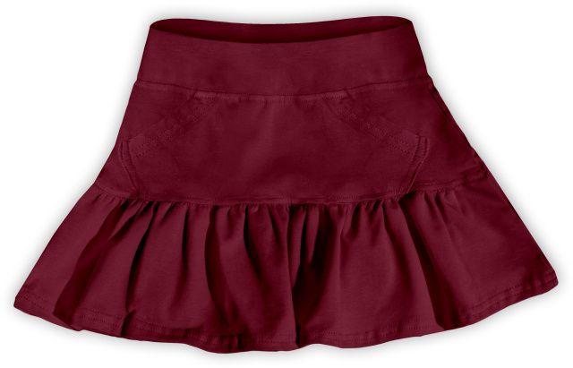 Dívčí (dětská) sukně,  BORDO (vínová)