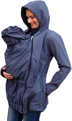Maternity and babywearing softshell jacket Pavla 2 ( front babywearing only ), anthracit