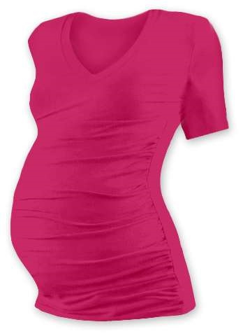 Maternity T-shirt Vanda, short sleeves, DARK PINK