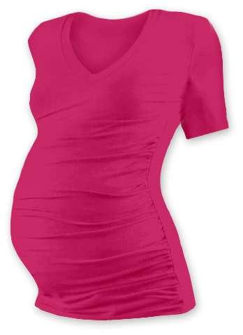 VANDA- maternity T-shirt, short sleeves, DARK PINK