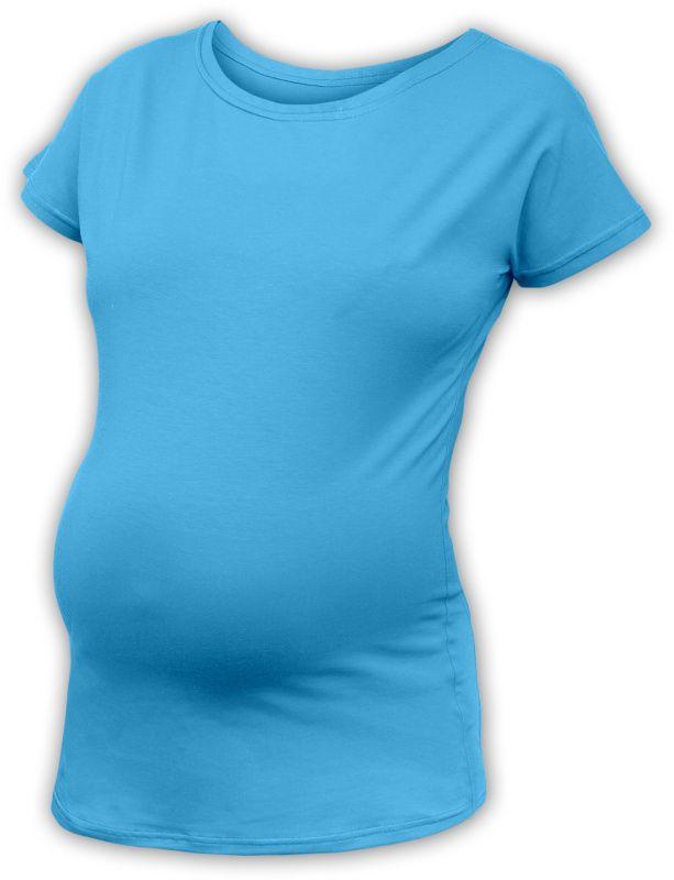 Těhotenské tričko s netopýřími rukávy nikola, krátký rukáv, tyrkysová m/l