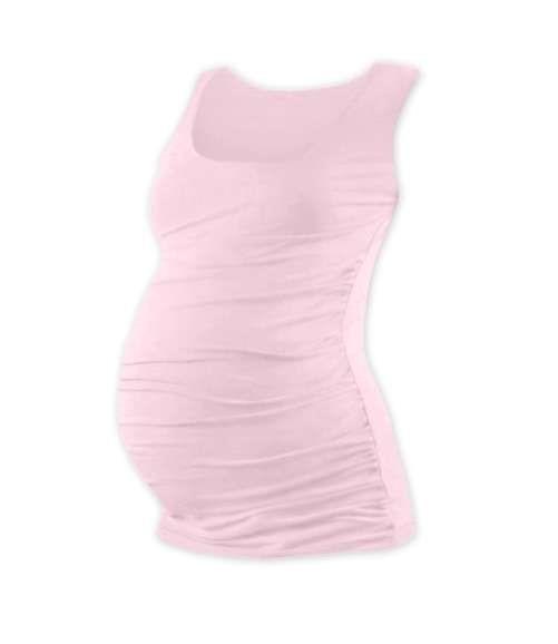 JOHANKA- T-shirt for pregnant women, no sleeves, LIGHT PINK