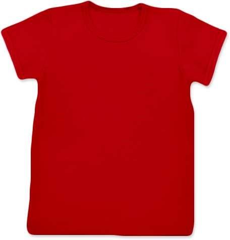 Shirt für Kinder, kurze Ärmel, rot