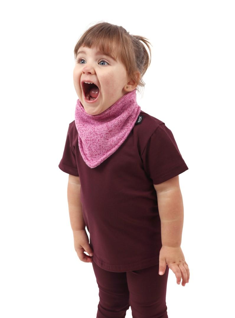 Shirt für Kinder, kurze Ärmel, bordeaux