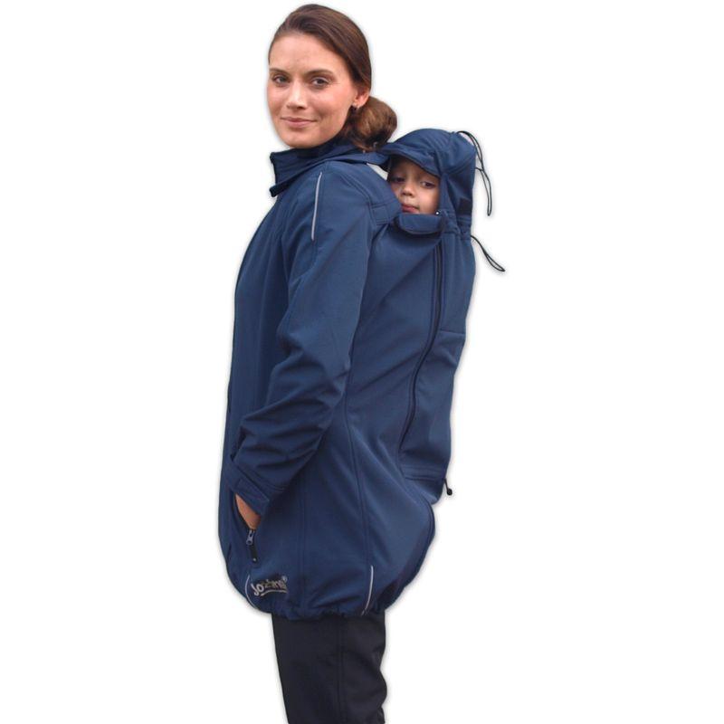 Nosící a těhotenská softshellová bunda Sandra, tmavě modrá