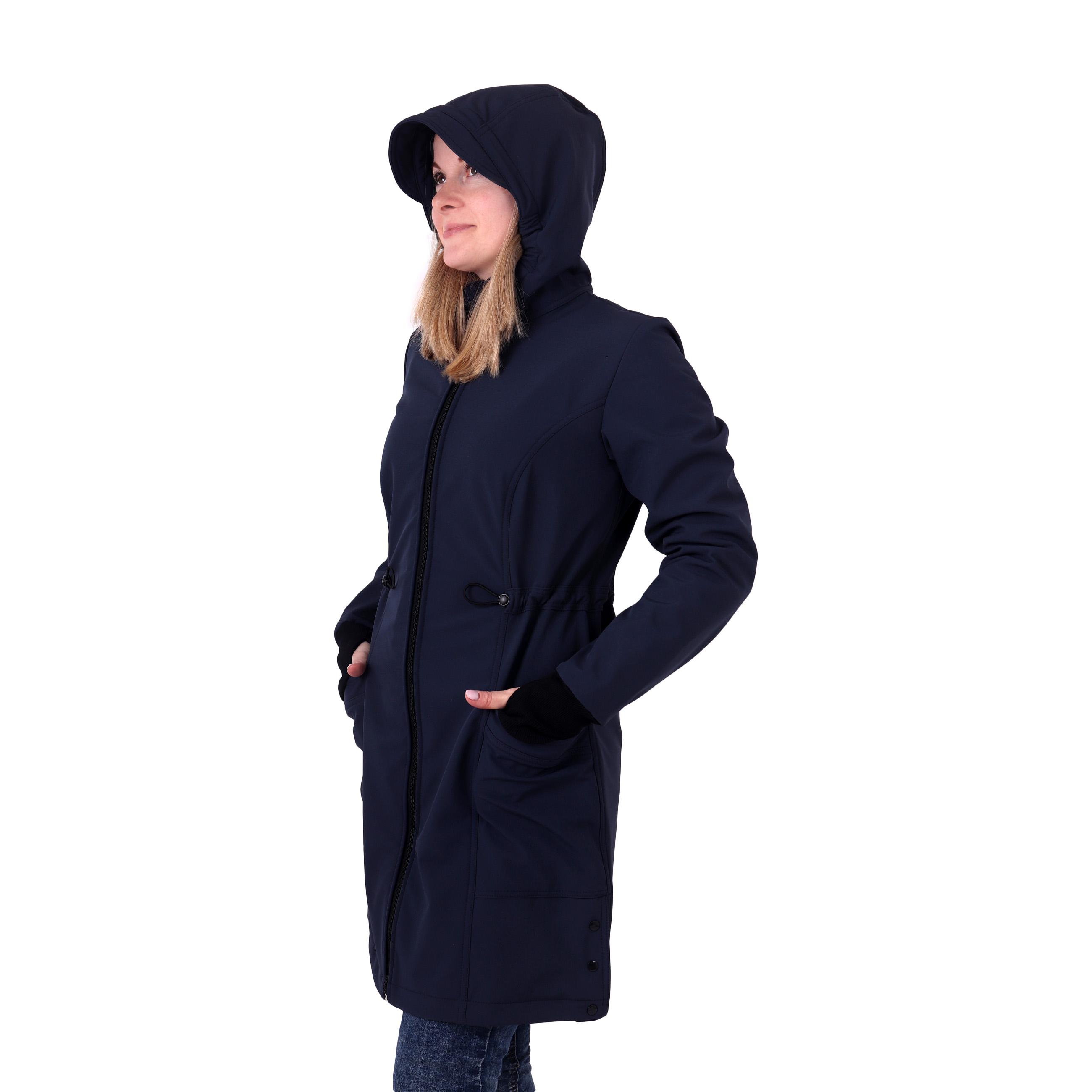 Dámský softshellový kabát hana, tmavě modrý, s