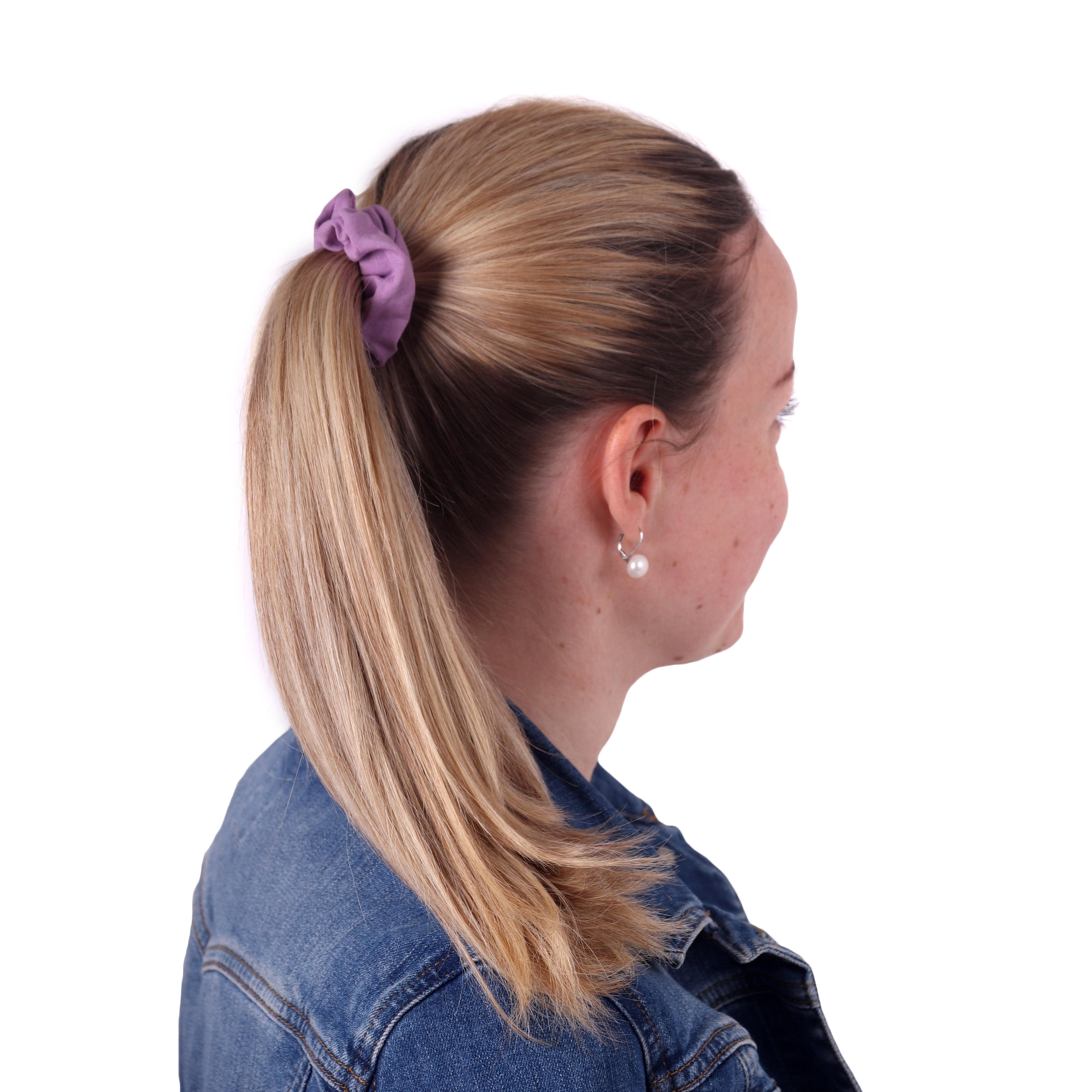 Látková gumička do vlasů, malá, fialková