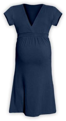 Tehotenské šaty Šarlota, jeans (tmavo modré)
