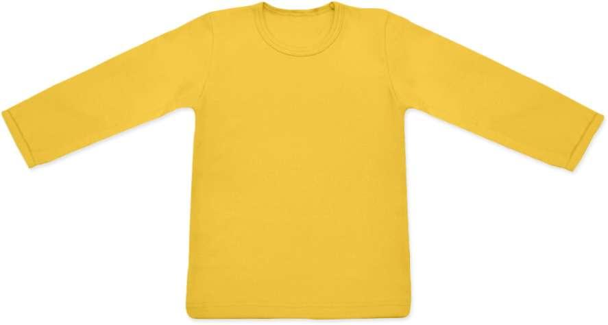 Shirt für Kinder, lange Ärmel, gelborange