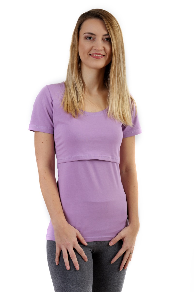 Dojčiace tričko Kateřina, krátky rukáv, levanduľovo fialové