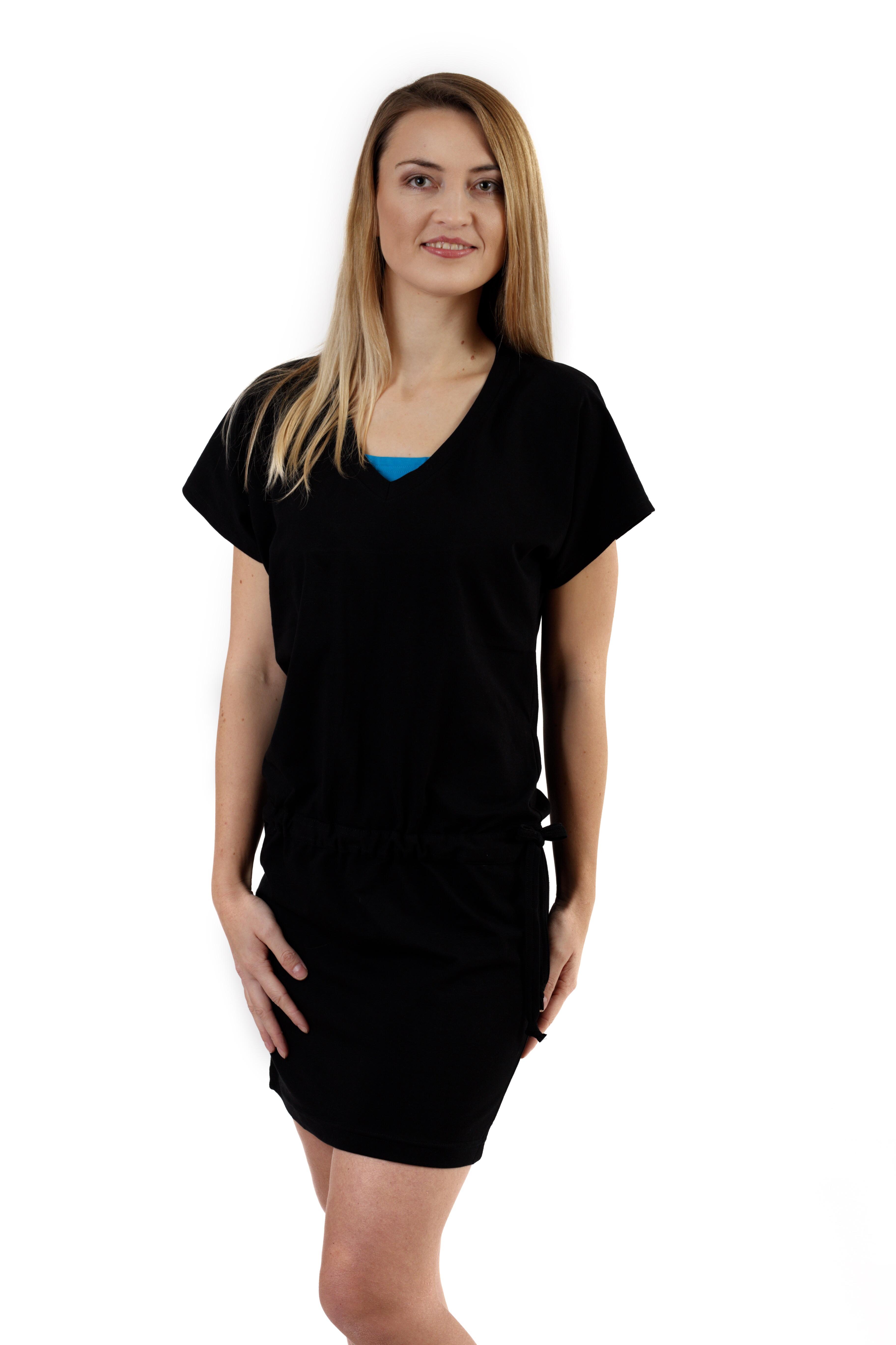 Kojící a těhotenské šaty valerie, černé l/xl