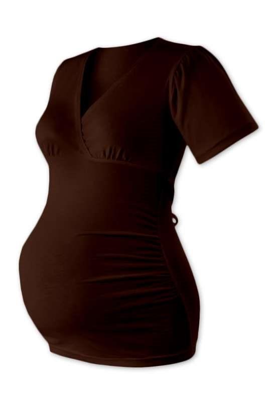 ZUZANA- těhotenská tunika na zavazování, ČOKO HNĚDÁ