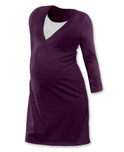 Kojicí noční košile lucie, dlouhý rukáv, švestkové fialová l/xl