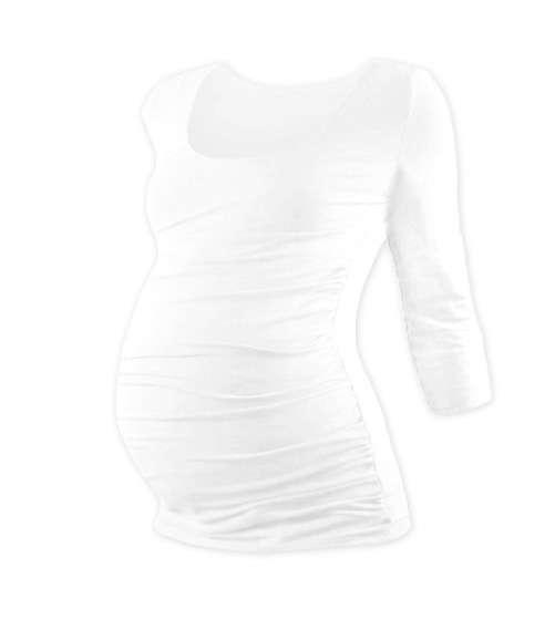 Těhotenské tričko johanka, 3/4 rukáv, bílá s/m