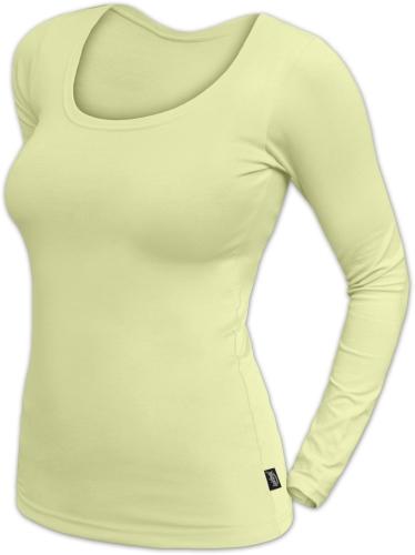 Dámské tričko Brigita, dlouhý rukáv, světle zelená