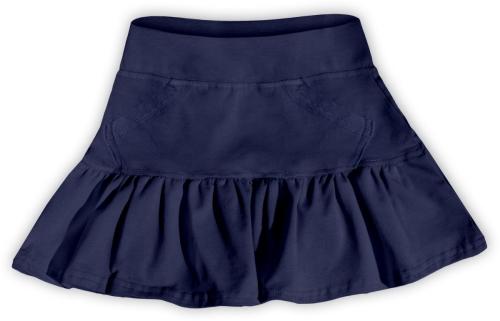 Dívčí (dětská) sukně,  TMAVĚ MODRÁ