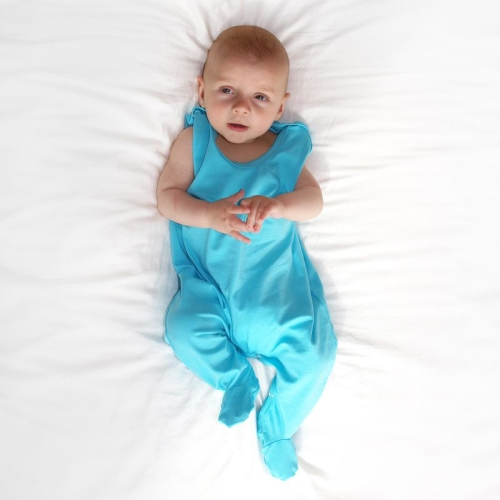 Infant playsuits, baby jumpsuits, rompers, turquoise