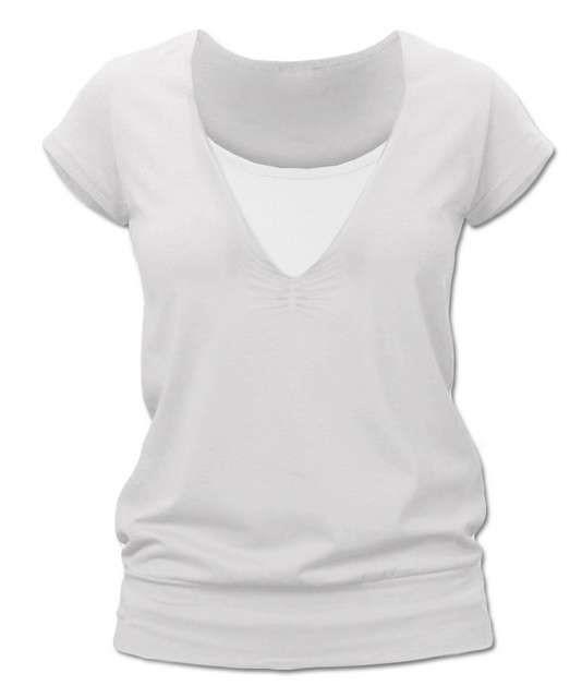 KARLA- Stillshirt, kurze Ärme, Sahnefarbe, S/M