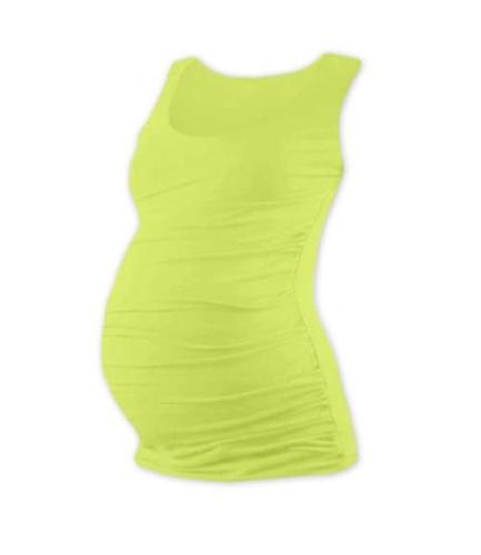 JOHANKA- T-shirt for pregnant women, no sleeves, LIGHT GREEN