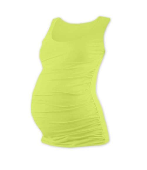 JOHANKA- T-shirt for pregnant women, no sleeves, LIGHT GREEN