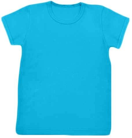 Shirt für Kinder, kurze Ärmel, türkis