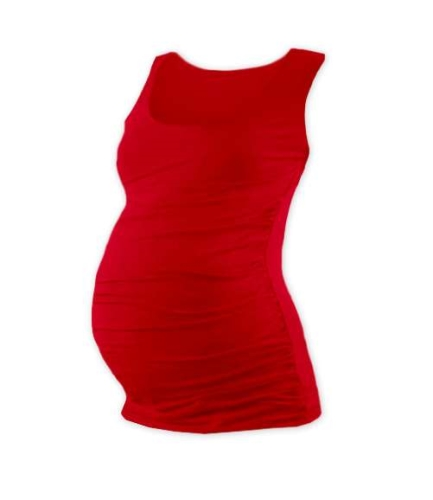 T-shirt for pregnant women Johanka, no sleeves, RED