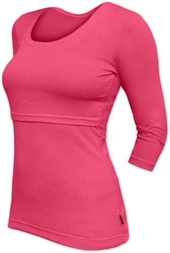 Breast-feeding T-shirt 01 Katerina, 3/4 sleeves, SALMON PINK