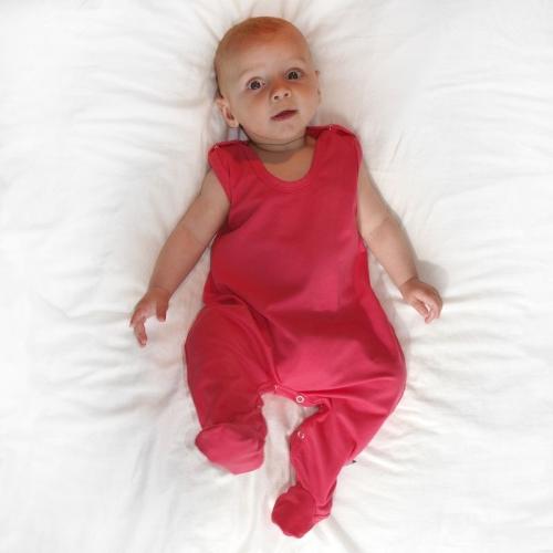 Strampler für Babys, lachsrosa