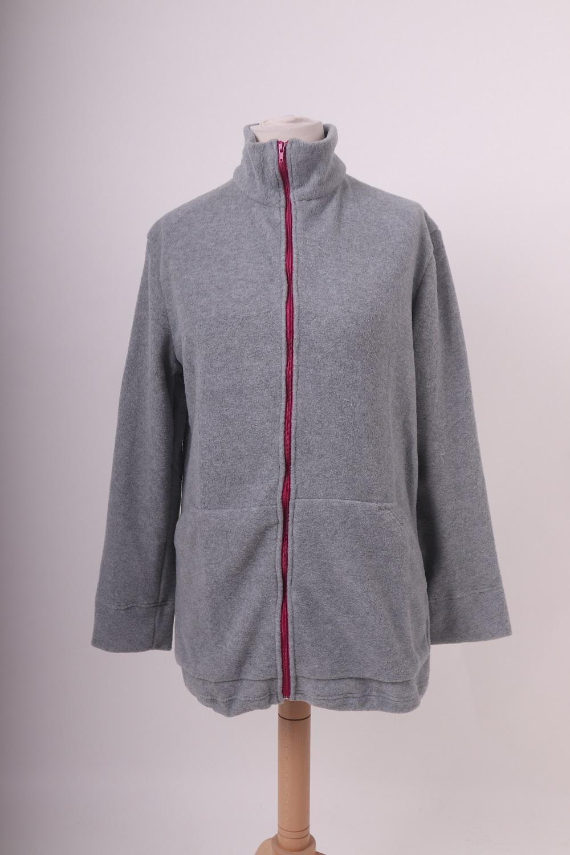 Těhotenská a nosící fleece mikina Nora, ŠEDÝ MELÍR II. M/L