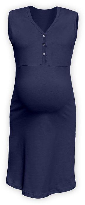 CECILIE- Nachthemd für schwangere und stillende Frauen, ohne Ärmel, dunkelblau