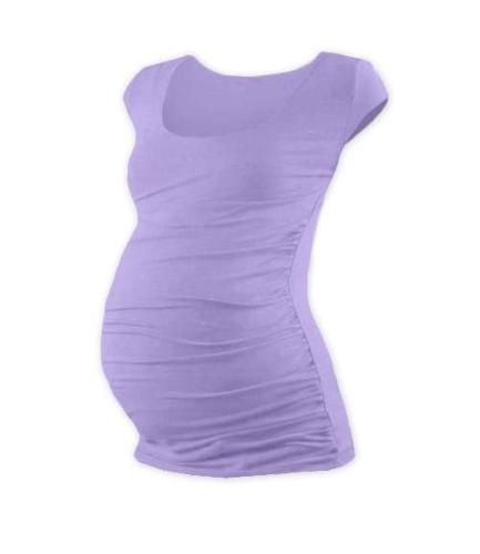 Tehotenské tričko Johanka, mini rukáv, levanduľovo fialové