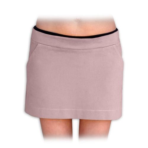 těhotenská sukně celoroční denim jeans riflovina barevná béžová 40