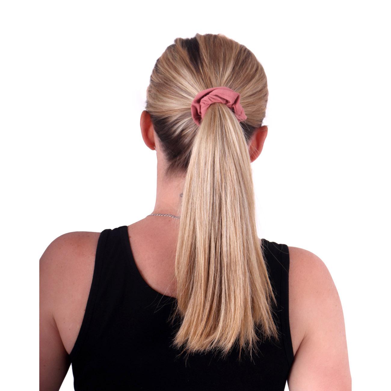 Látková gumička do vlasů, malá, starorůžová