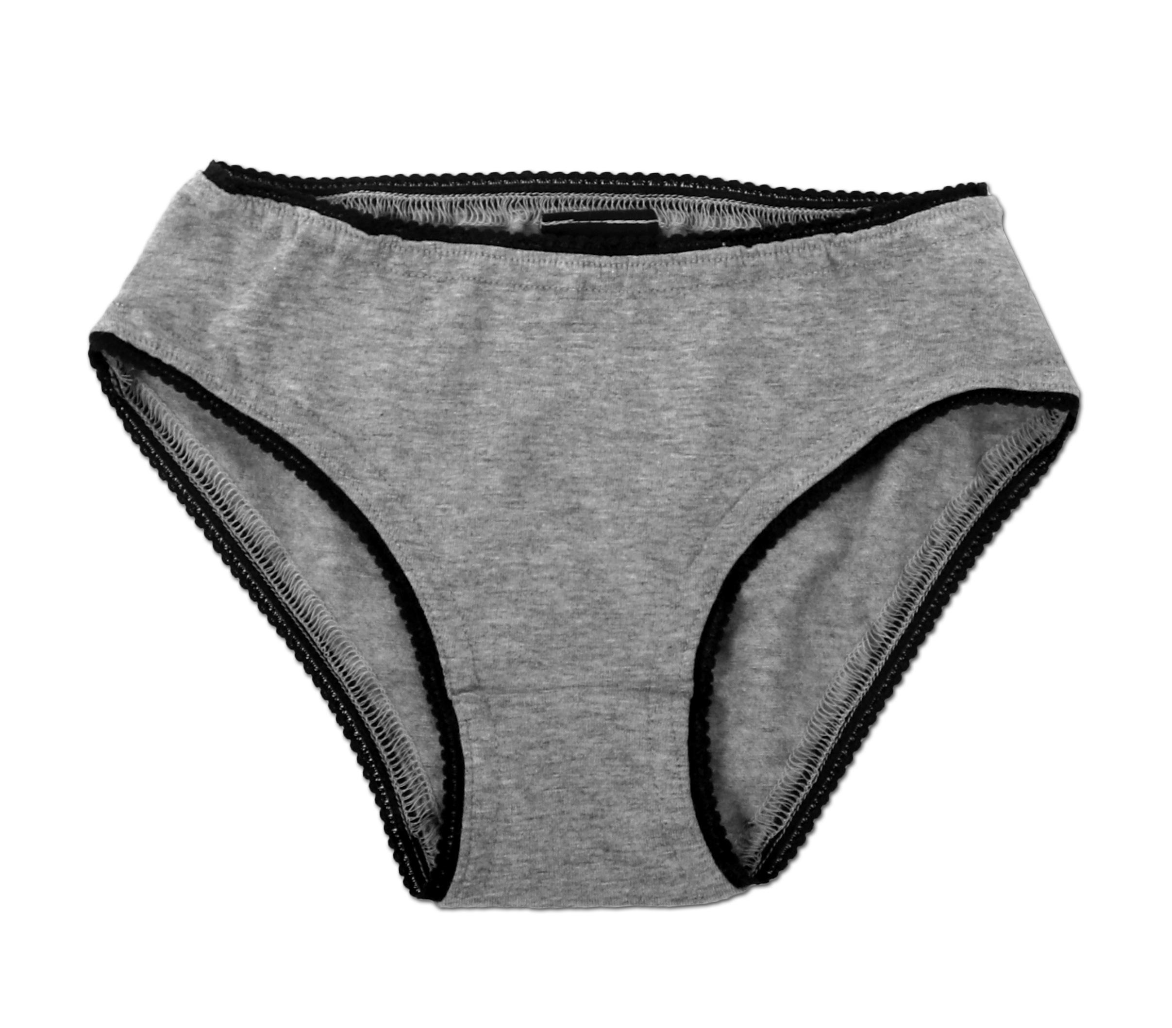 Dívčí bavlněné kalhotky, šedý melír, 92