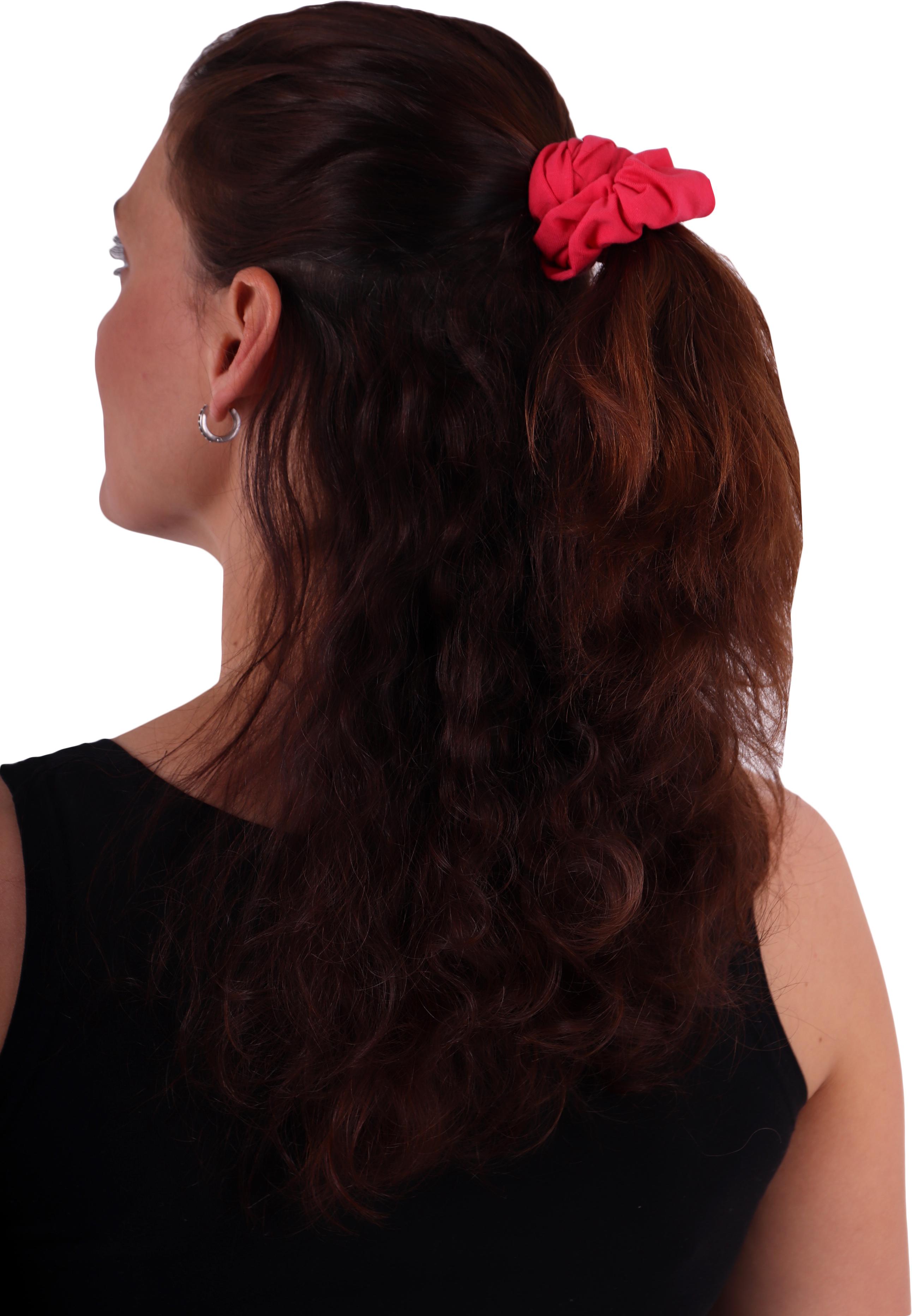 Látková gumička do vlasů, velká, lososově růžová