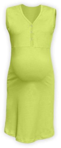 Dojčiace nočná košeľa rozopínajúce, bez rukávov, svetlo zelená