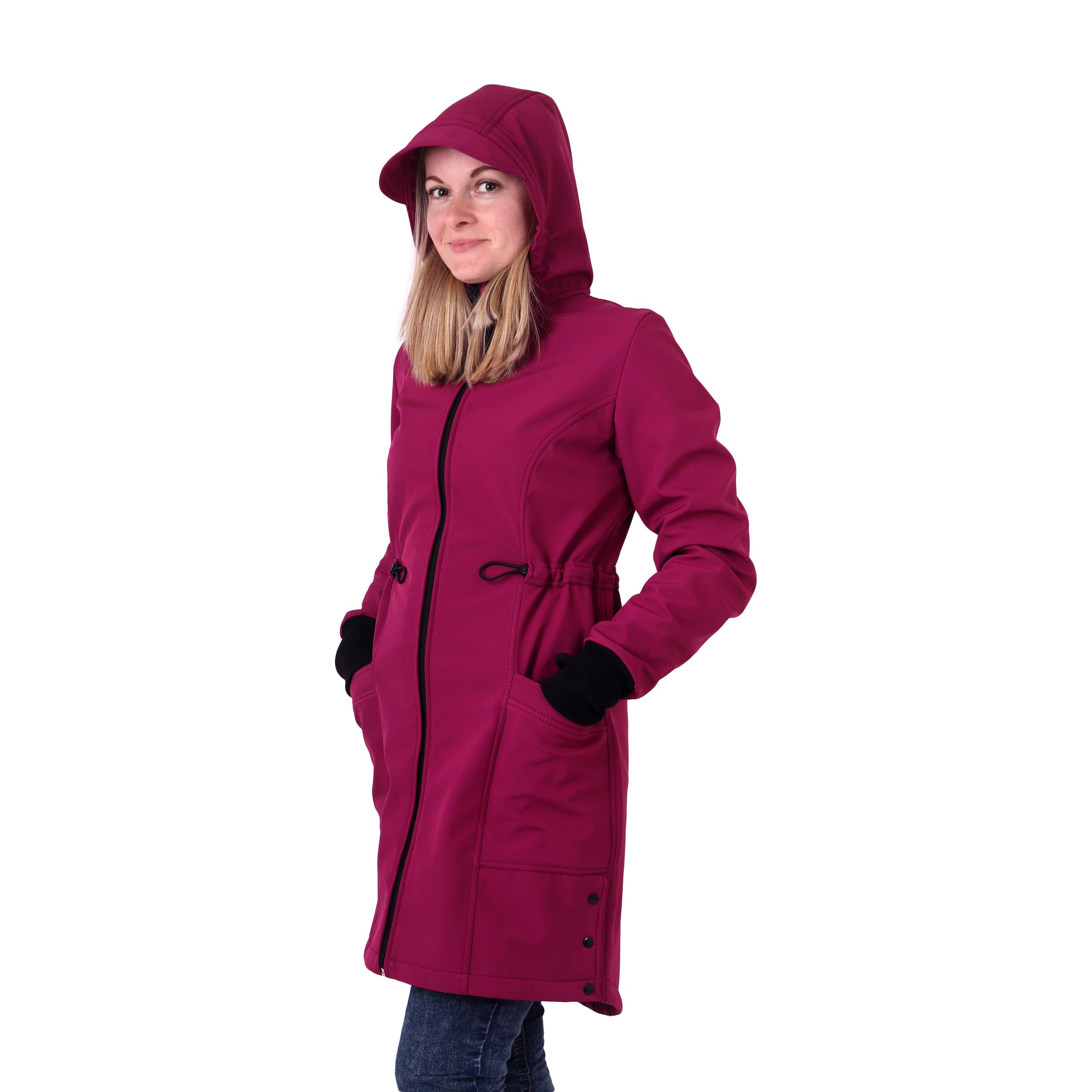 Dámský softshellový kabát hana, fuchsiový, s