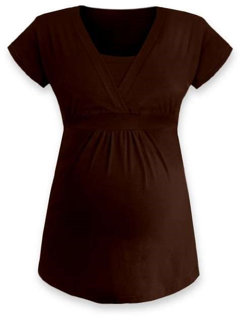 ANICKA- maternity and breast-feeding tunic, CHOCOLATE BROWN