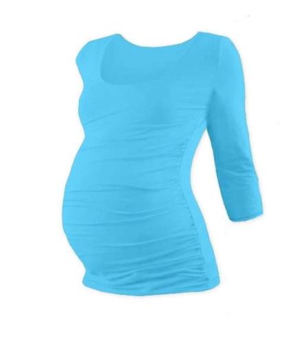 Maternity T-shirt Johanka, 3/4 sleeve, TURQOUISE