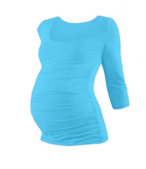 JOHANKA- maternity T-shirt, 3/4 sleeve, TURQOUISE