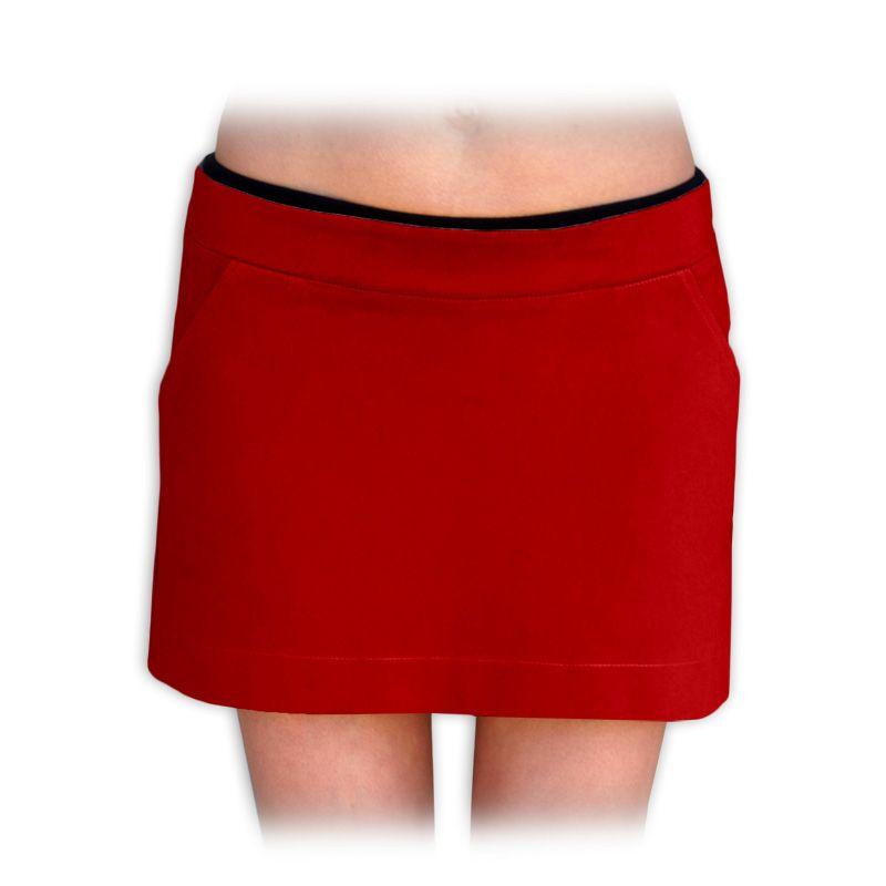 Těhotenská sukně monika, červená 44