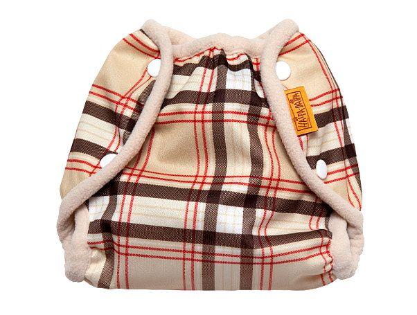 Nepromkovavé svrchní kalhotky na látkové pleny pul, retro kárované m 6-10kg
