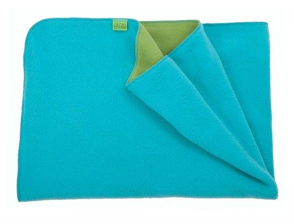 Warm fleece blanket- turquoise/green 70x100cm